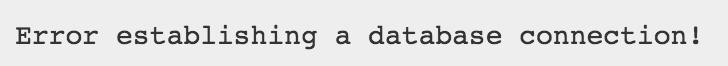 Fehlermeldung bei der WordPress Installation